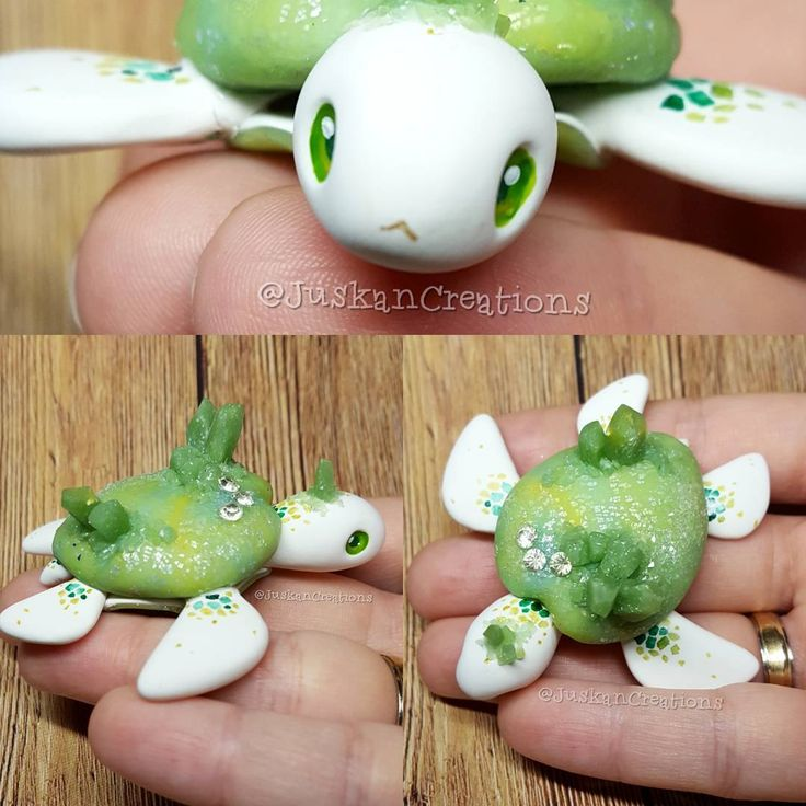 """Gefällt 331 Mal, 5 Kommentare - Danie - clay artist (@juskancreations) auf Instagram: """"Two posts in a row  seems like I'm back  I could finally finish my green crystal turtle. Four…"""""""