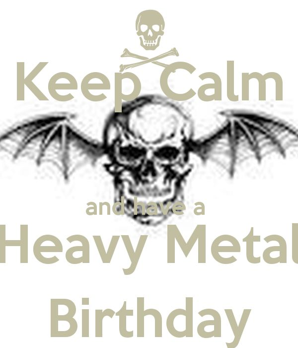 heavy metal metalhead | Happy Birthday Metal Head