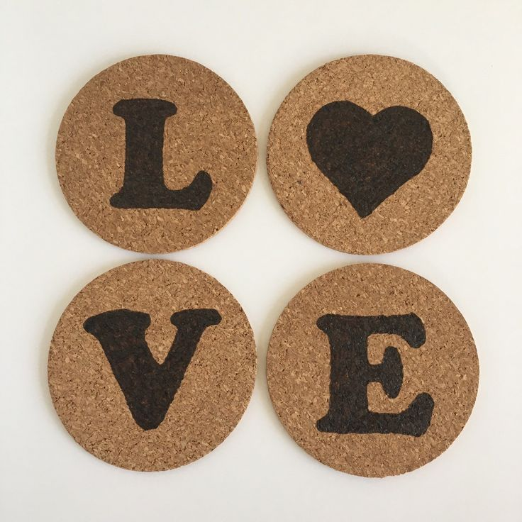 All You Need Is Love set of 4 Cork Coasters by HuckleberryHaven on Etsy https://www.etsy.com/ca/listing/265485263/all-you-need-is-love-set-of-4-cork