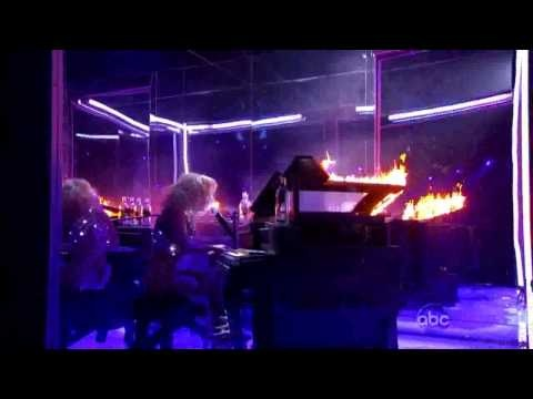 Lady Gaga Sets Fire Smashes Stage Bad Romance HD & Speechless Paparazzi Kesha Tik Tok ?