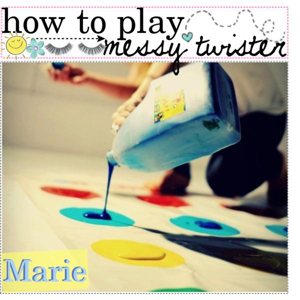 HOW TO PLAY MESSY TWiSTER ♥ by the-tip-girly on Polyvore featuring art