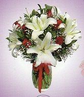 Silindir Vazoda Lilyumlar ve Güllerin Dansı