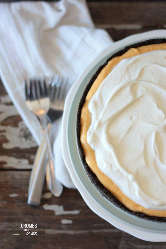 Pumpkin Cream Tart with Oreo Crust   Crumbs and Chaos