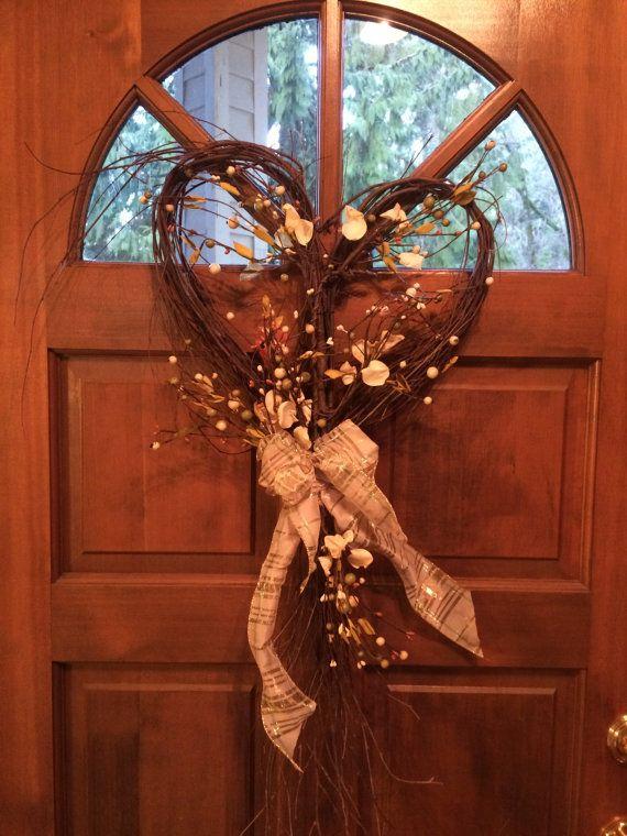 Wedding wreath, valentine wreath,  wedding decor, wedding, heart wreath, wedding…