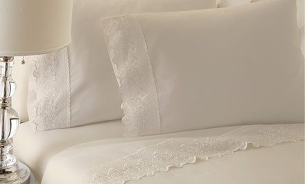 T250 100% Cotton Sheet Set with Lace Trim. Multiple Sizes from $39.99–$42.99. Free Returns.