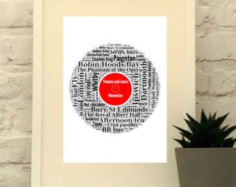 Vinyl Record Print - Custom LP - Personalised in your choice of words and colours  #vinyl #personalised #custom #pepperdoodles #lp #record