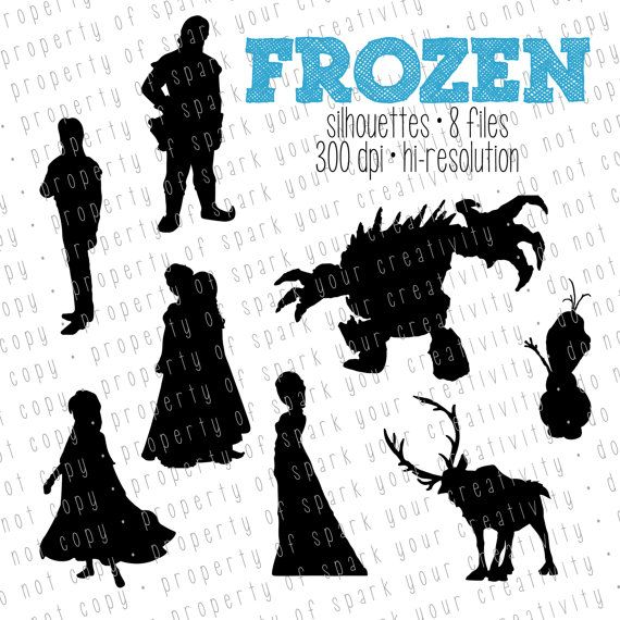 Frozen Silhouettes // Disney Princess Elsa by SparkYourCreativity, $6.00