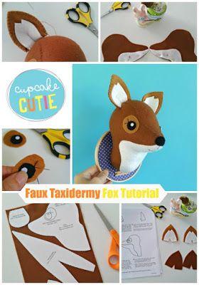 cupcake cutie: Faux Taxidermy Fox stitch-a-long: Part 1