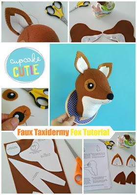 cupcake cutie: Faux Taxidermy Fox stitch-a-long: Part 1