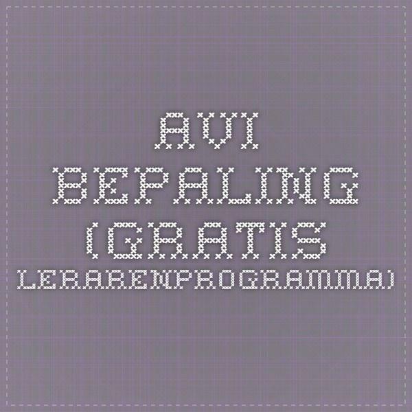 AVI-bepaling (gratis lerarenprogramma)