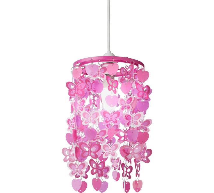Buy HOME Spotted Butterfly Pink Light Shade at Argos.co.uk, visit Argos.co.uk to shop online for Lamp shades, Lighting, Home and garden