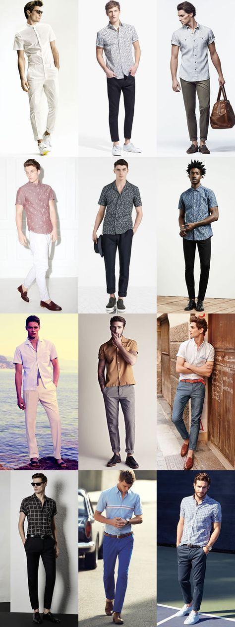 Short-Sleeved Shirt + Trousers/ChinosLong-Sleeved Shirt + ShortsLightweight Suit SeparatesT-Shirt/Polo Shirt + SuitShorts + Blazer출처 : 패션빈즈