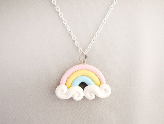 Fairy Kei Pastel Rainbow Necklace by cbexpress on Etsy, $12.00