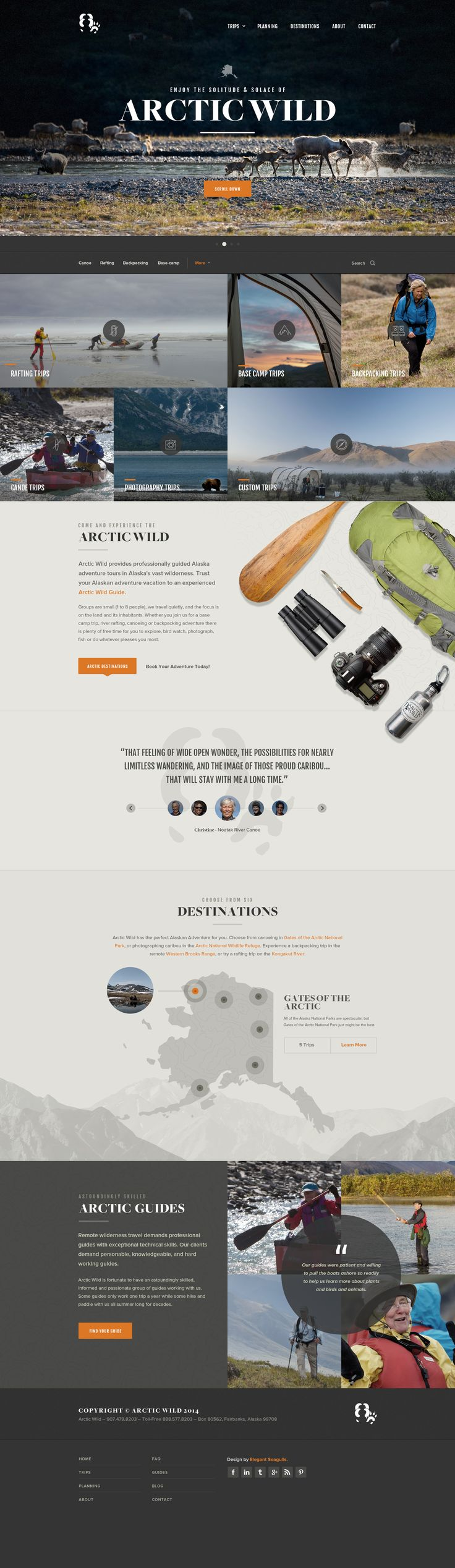 Artic Wild / user interface and website design – now live on http://arcticwild.com – by Elegant Seagulls on dribbble.