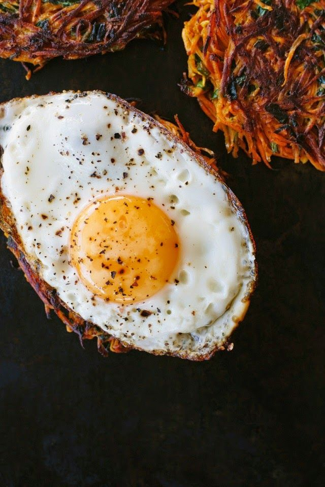 spiced sweet potato cakes with crispy fried egg recipe