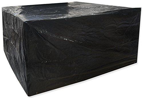Woodside Black Medium Oval Waterproof Outdoor Garden Patio Set Furniture Cover