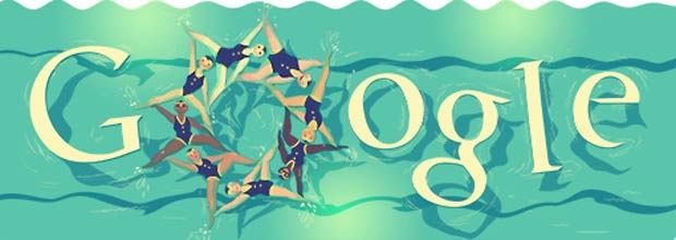 Google's new Doodle on synchronised swimming London 2012