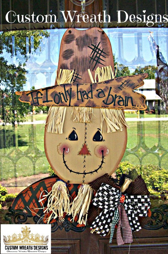 Wood Scarecrow Hanger by lilmaddydesigns on Etsy, $40.00