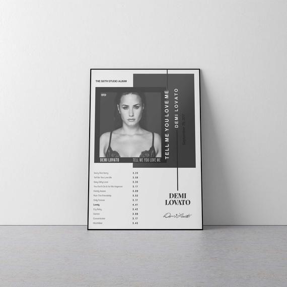 Art Silk Poster New Demi Lovato Tell Me You Love Me 2019 New Album Cover Z-623