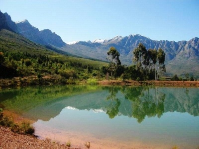 Foot of Winterhoek Mountains, just north of Tulbagh, Western Cape.