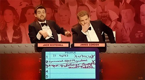 Jack Whitehall and James Corden in Big Fat Quiz of the Year 2012