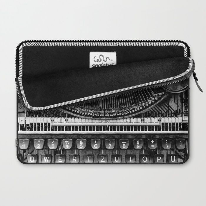 Typewriter Laptop Sleeve by Mixed Imagery | Society6