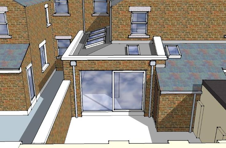 Mid terrace house extension option 2 of 3 148 lgf for Terrace kitchen extension