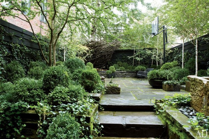 New York City Townhouse Garden -- owned by Julianne Moore