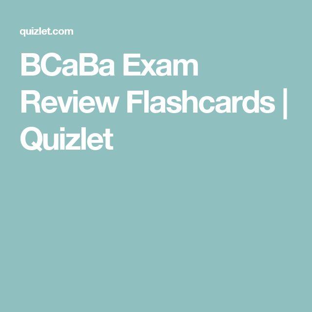 BCaBa Exam Review Flashcards | Quizlet