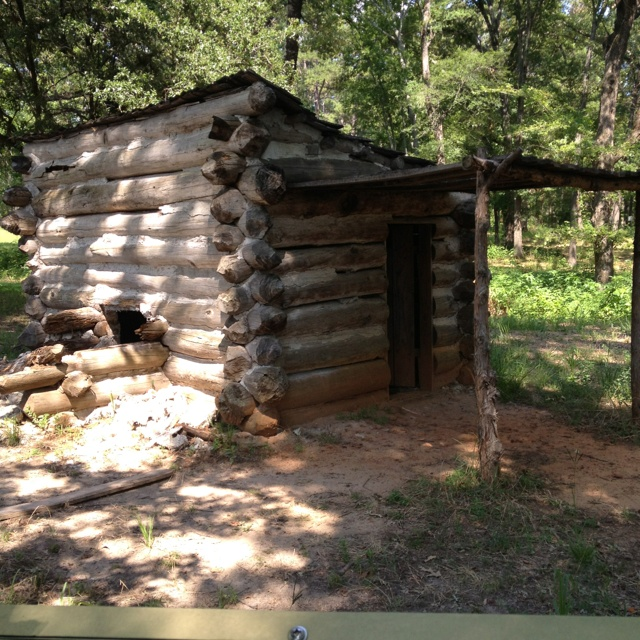 Bon TRhe Prisoners Made Their Own Shelter If They Were Lucky. This Is An  Upscale Cabin For An Officer Replicated From His Own Journal From 1864 In  Tyler, Tx.