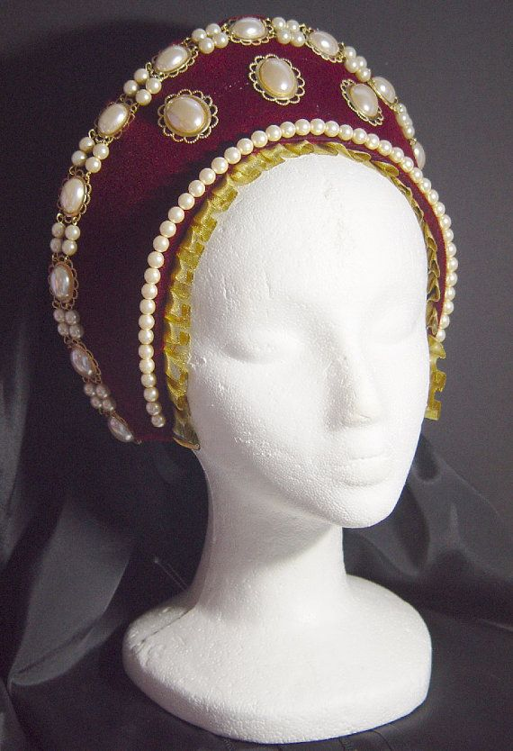 Renaissance Necklace Headpiece Anne Boleyn by DRAGONPIPES on Etsy