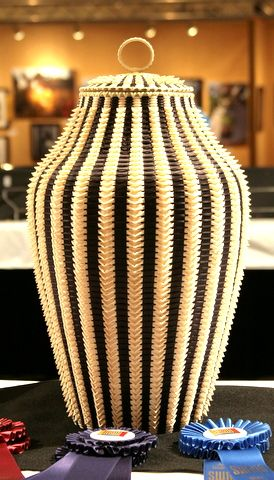 Award-winning basket by Passamaquoddy Tribe artist Jeremy Frey (Maine)
