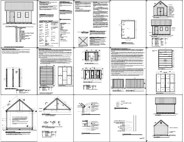 shed plans | 12x16 Cape Cod Style Shed Plans | icreatables