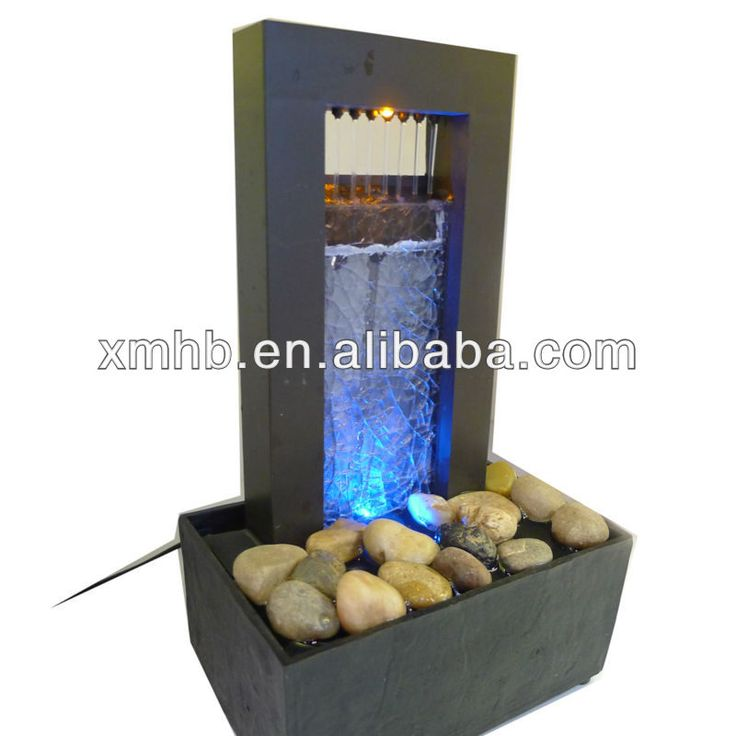 Rain Drop Indoor Waterfall With Glass Decoration