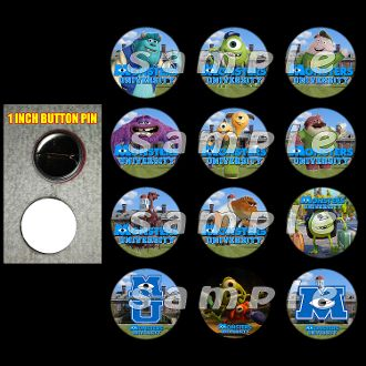 """MONSTERS UNIVERSITY 1"""" BUTTONS"""