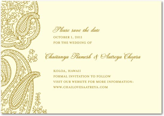 Save The Dates For Pooja And Reception Ribbon DesignWedding Paper DivasWedding WebsiteBlue