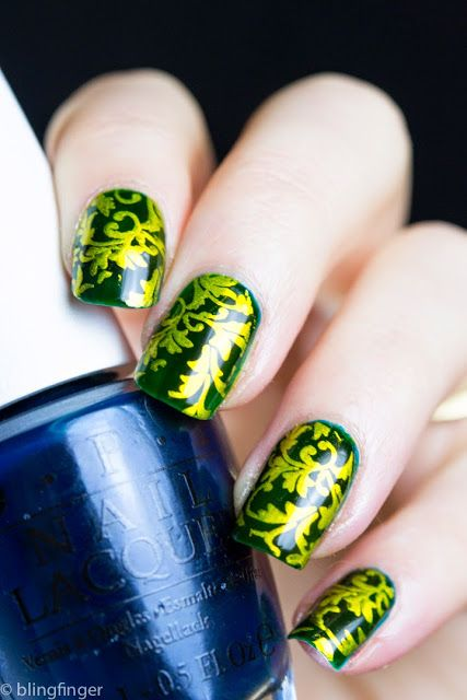 Incapsulated Stamping with OPI Color Paints. http://www.blingfinger.net/2015/05/incapsulated-stamping-with-opi-color.html
