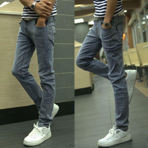 % Винтажный дымчатый серый джинсы вилочная часть прорезиненная тесьма приталенный узкие джинсы брюки-карандаш вилочная часть