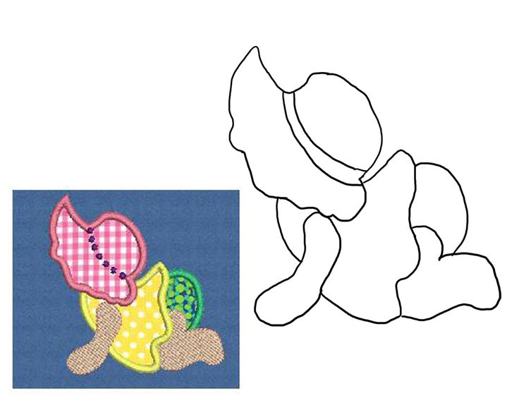 Baby Sunbonnet Sue.  Would be adorable on a quilt.