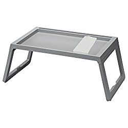 IKEA TV Tray – Lap Tray For The Family Bundle with Restaurant Quality Dinner Napkin – For TV, Movies, Breakfast in Bed, Lunch, Brunch, Dinner – GRAY [Foldable Legs][1 Napkin Included Per Tray]
