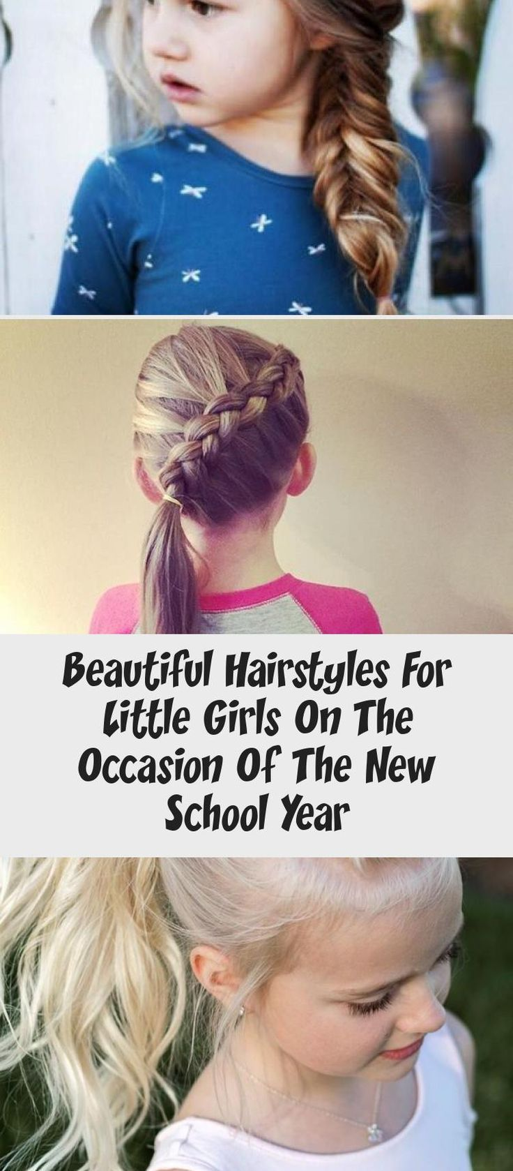 beautiful hairstyles for little girls on the occasion of the new school year Hairdressing #babyhairstylesBiracial #babyhairstylesKorean #babyhairstylesGirl #babyhairstylesGel #babyhairstylesWithBows