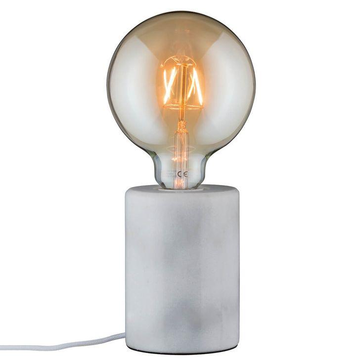 Weiße, puristische Marmor-Tischlampe Nordin Jetzt bestellen unter: https://moebel.ladendirekt.de/lampen/tischleuchten/beistelltischlampen/?uid=a3a4ede6-e6f6-5a86-a2bd-97aa91bed2e9&utm_source=pinterest&utm_medium=pin&utm_campaign=boards #lampen #tischleuchten #beistelltischlampen Bild Quelle: www.lampenwelt.de