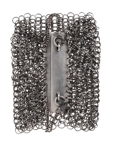 Ann Demeulemeester chainmail armor bracelet. need.