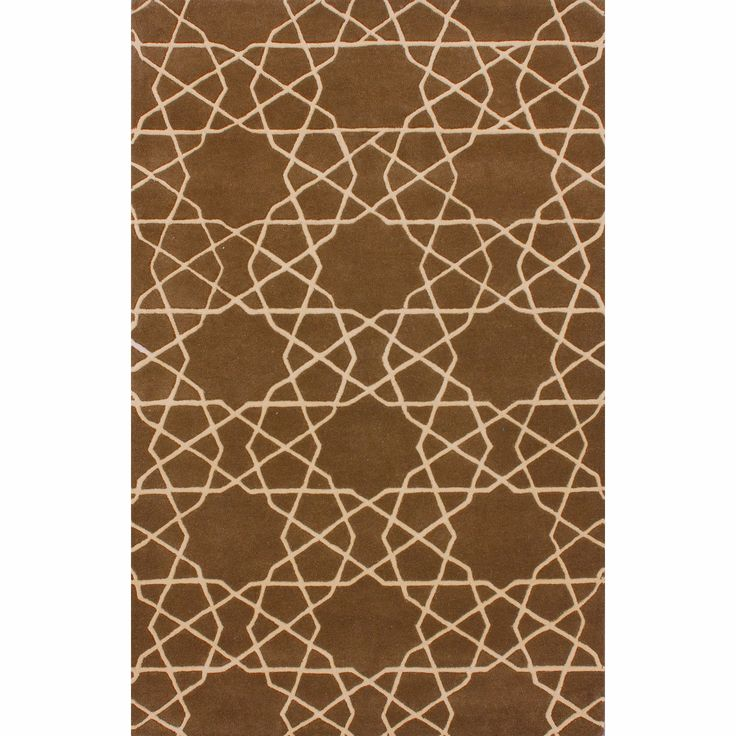 NuLOOM Handmade Marrakesh Trellis Brown Wool Rug 5 X