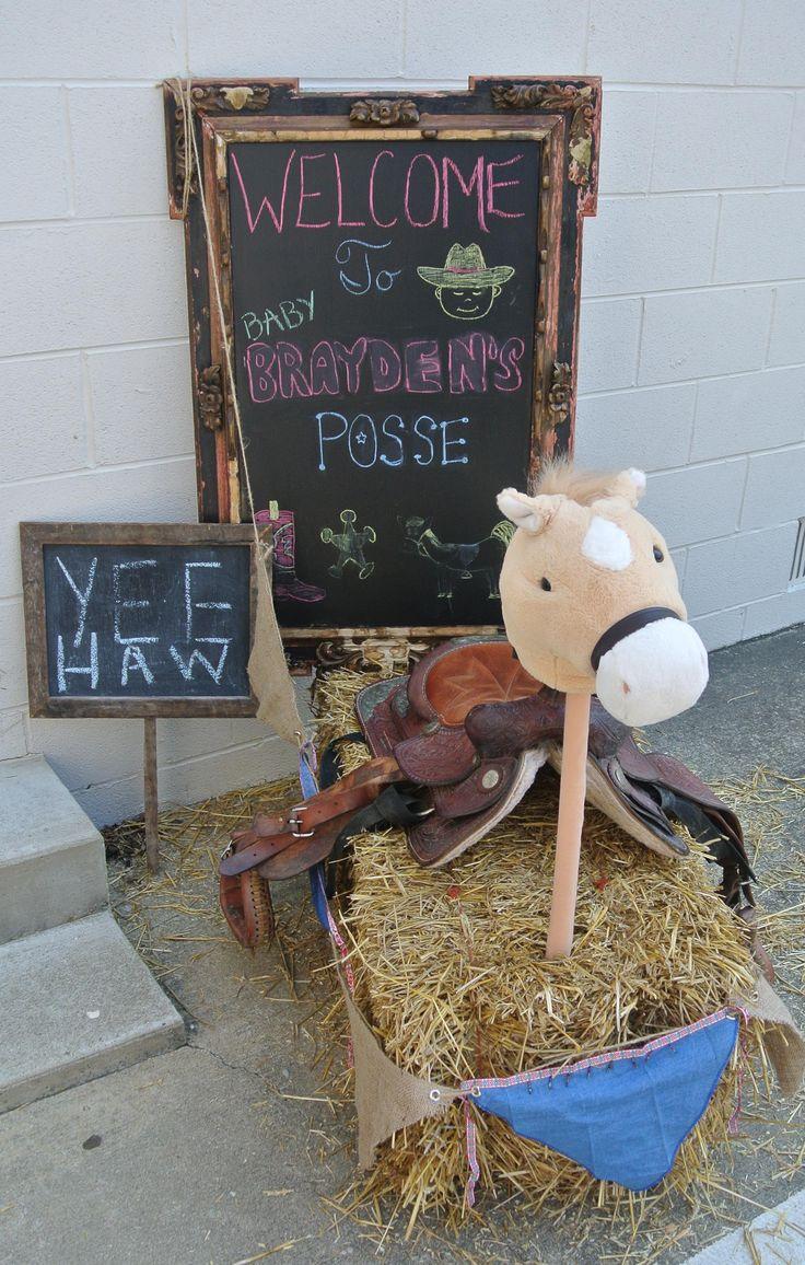 Cowboy themed baby shower. @Jenny Collett @Kari Jones Hibbard for little baby H baby shower ideas for boys