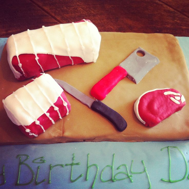 Butcher's birthday cake!