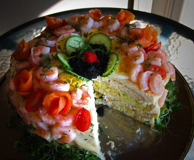 Smörgåstårta is a savoury Swedish party cake