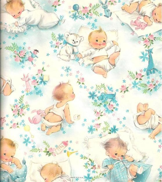 Baby shower vintage fabrics and patterns pinterest for Baby themed fabric