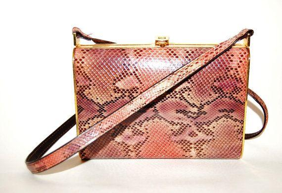 Snakeskin Pattern Handbag by CultureFREAK on Etsy, $25.00