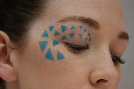 Makeup stencil/ Make-up stencil/ Halloween/ abstract/ avant garde/ tribal/ modern/ Art Deco/ triangles/ geometric on Etsy, $7.00